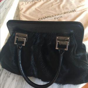 Charles Jourdan Paris Black Fur Purse